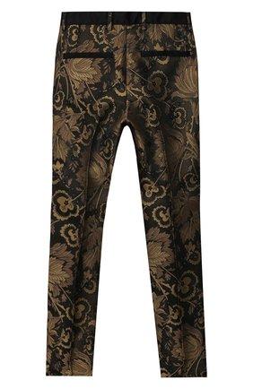 Детские брюки DOLCE & GABBANA золотого цвета, арт. L43P20/HJ0AI/2-6 | Фото 2