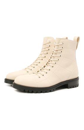 Женские кожаные ботинки cruz JIMMY CHOO кремвого цвета, арт. CRUZ FLAT/GNL | Фото 1