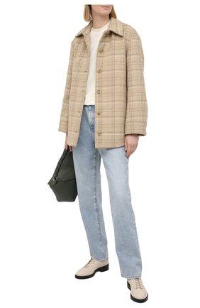 Женские кожаные ботинки cruz JIMMY CHOO кремвого цвета, арт. CRUZ FLAT/GNL | Фото 2