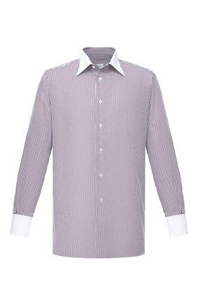 Мужская хлопковая сорочка BRIONI бордового цвета, арт. RCBD0M/P004T | Фото 1