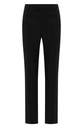 Мужские шерстяные брюки BOTTEGA VENETA черного цвета, арт. 647384/V0B30 | Фото 1 (Случай: Повседневный; Длина (брюки, джинсы): Стандартные; Материал внешний: Шерсть; Стили: Минимализм)