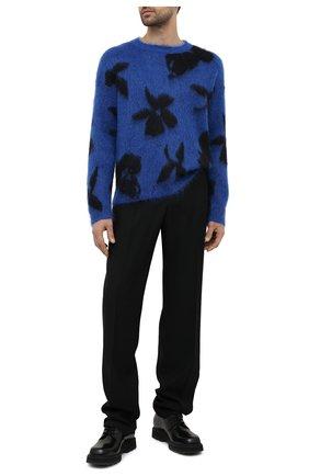 Мужские шерстяные брюки BOTTEGA VENETA черного цвета, арт. 647384/V0B30 | Фото 2 (Случай: Повседневный; Длина (брюки, джинсы): Стандартные; Материал внешний: Шерсть; Стили: Минимализм)