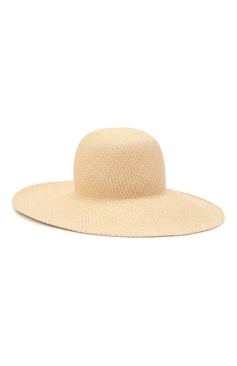 Женская соломенная шляпа LORO PIANA бежевого цвета, арт. FAL6521   Фото 1 (Материал: Растительное волокно)