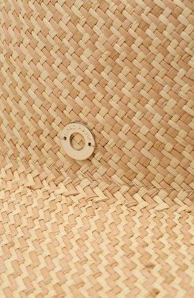 Женская соломенная шляпа LORO PIANA бежевого цвета, арт. FAL6521   Фото 3 (Материал: Растительное волокно)