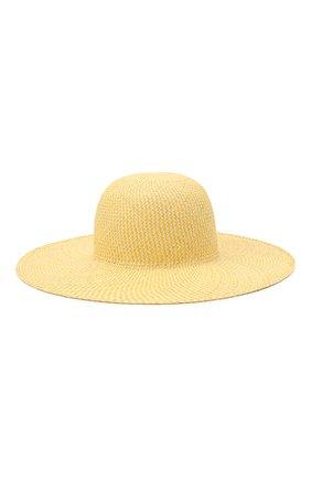 Женская соломенная шляпа LORO PIANA желтого цвета, арт. FAL6521 | Фото 1