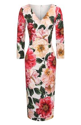 Женское платье из вискозы DOLCE & GABBANA розового цвета, арт. F6I6QT/FSRMU | Фото 1