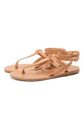 Женские кожаные сандалии estia ANCIENT GREEK SANDALS бежевого цвета, арт. ESTIA/NATURAL | Фото 1