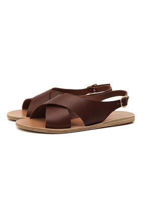 Женские кожаные сандалии maria ANCIENT GREEK SANDALS темно-коричневого цвета, арт. MARIA/CHESTNUT | Фото 1