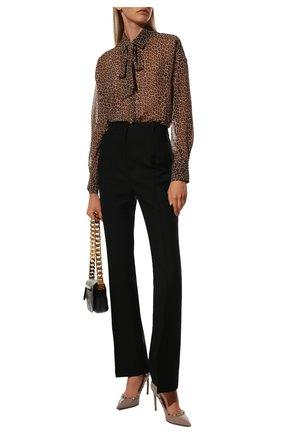 Женские кожаные туфли rockstud VALENTINO бежевого цвета, арт. VW2S0057/VNW | Фото 2 (Материал внутренний: Натуральная кожа; Подошва: Плоская; Каблук высота: Высокий; Каблук тип: Шпилька)