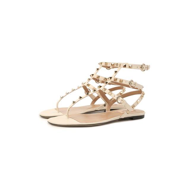 Кожаные сандалии Rockstud Valentino