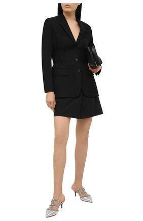 Женские кожаные мюли rockstud VALENTINO серебряного цвета, арт. VW2S0V23/NXC | Фото 2