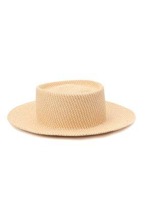 Женская соломенная шляпа LORO PIANA бежевого цвета, арт. FAL6599 | Фото 1
