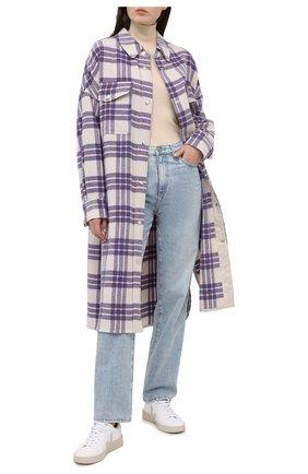 Женское шерстяное пальто ISABEL MARANT ETOILE синего цвета, арт. MA0902-21P064E/F0NTIA | Фото 2
