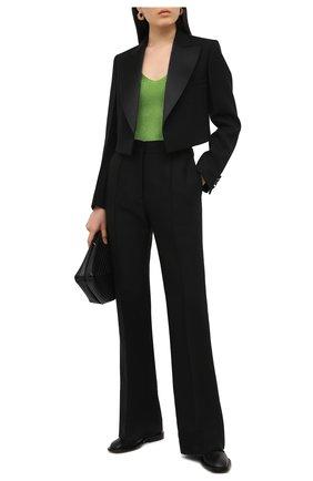 Женский шерстяной жакет VICTORIA BECKHAM черного цвета, арт. 1121WJK002216A | Фото 2