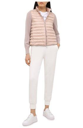 Женские кожаные кеды alodie MONCLER белого цвета, арт. G1-09B-4M711-06-02SRW | Фото 2