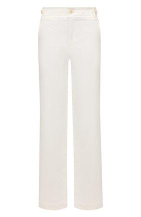 Женские хлопковые брюки VINCE кремвого цвета, арт. V710821754 | Фото 1