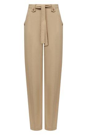 Женские хлопковые брюки KENZO бежевого цвета, арт. FB52PA0339SA | Фото 1