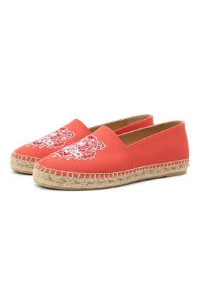 Женские текстильные эспадрильи KENZO красного цвета, арт. FB52ES180F70 | Фото 1