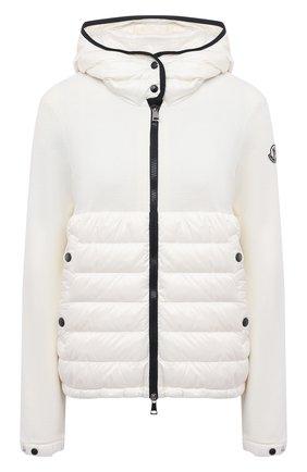 Женский шерстяной кардиган MONCLER белого цвета, арт. G1-093-9B542-00-A9614 | Фото 1