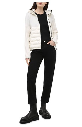 Женский шерстяной кардиган MONCLER белого цвета, арт. G1-093-9B542-00-A9614 | Фото 2