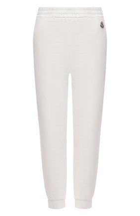 Женские хлопковые джоггеры MONCLER белого цвета, арт. G1-093-8H742-00-809LC | Фото 1