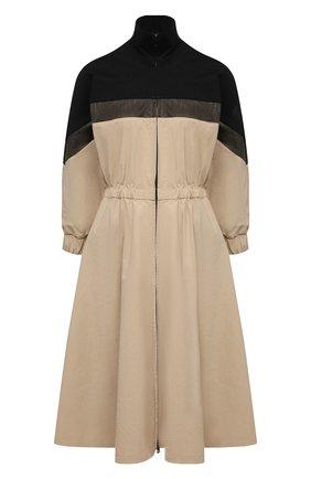 Женское платье MONCLER бежевого цвета, арт. G1-093-2G709-00-5499N   Фото 1