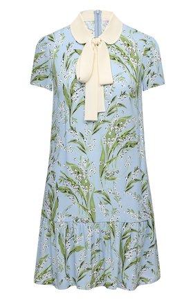 Женское платье из вискозы REDVALENTINO голубого цвета, арт. VR3VAZ65/5MQ | Фото 1