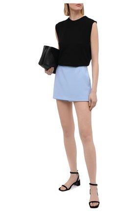 Женская юбка-шорты REDVALENTINO голубого цвета, арт. VR3RFE50/2EU | Фото 2