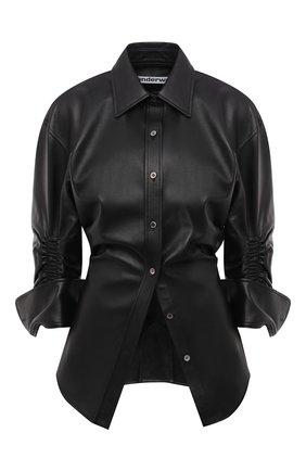Женская кожаная рубашка ALEXANDER WANG черного цвета, арт. 1WC2201383 | Фото 1