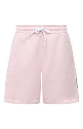 Женские хлопковый шорты ALEXANDER WANG розового цвета, арт. UCC1214010   Фото 1