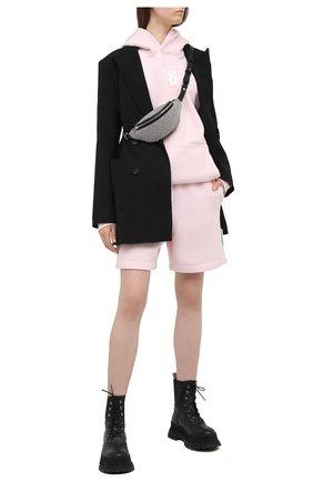 Женские хлопковый шорты ALEXANDER WANG розового цвета, арт. UCC1214010   Фото 2