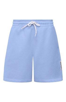 Женские хлопковый шорты ALEXANDER WANG голубого цвета, арт. UCC1214010   Фото 1