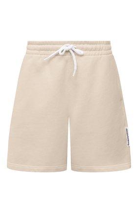 Женские хлопковый шорты ALEXANDER WANG бежевого цвета, арт. UCC1214010 | Фото 1