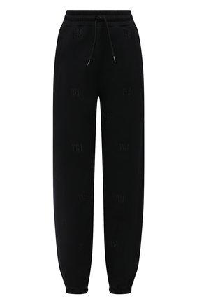 Женские хлопковый джоггеры ALEXANDER WANG черного цвета, арт. UCC1214008 | Фото 1