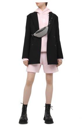 Женский хлопковый худи DENIM X ALEXANDER WANG розового цвета, арт. UCC1211023 | Фото 2