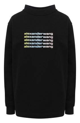 Женский хлопковый свитшот ALEXANDER WANG черного цвета, арт. UCC1211018 | Фото 1