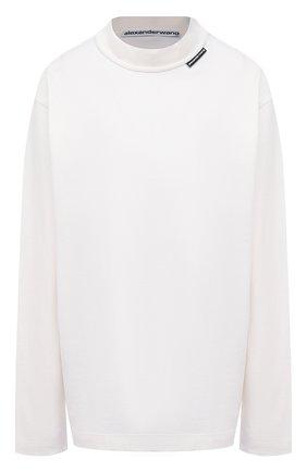 Женская хлопковый лонгслив ALEXANDER WANG белого цвета, арт. UCC1211007 | Фото 1