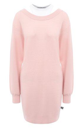 Женское шерстяное платье ALEXANDERWANG.T розового цвета, арт. 4KC1206012 | Фото 1
