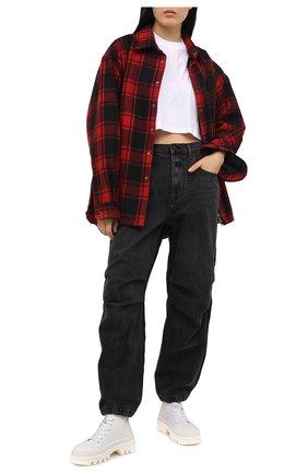Женские джинсы DENIM X ALEXANDER WANG темно-серого цвета, арт. 4DC1214902   Фото 2