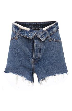 Женские джинсовые шорты DENIM X ALEXANDER WANG синего цвета, арт. 4DC1214901   Фото 1