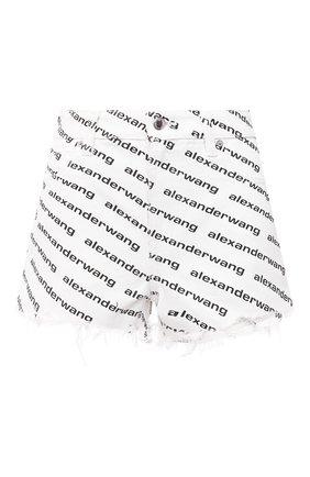 Женские джинсовые шорты DENIM X ALEXANDER WANG черно-белого цвета, арт. 4DC1214899   Фото 1