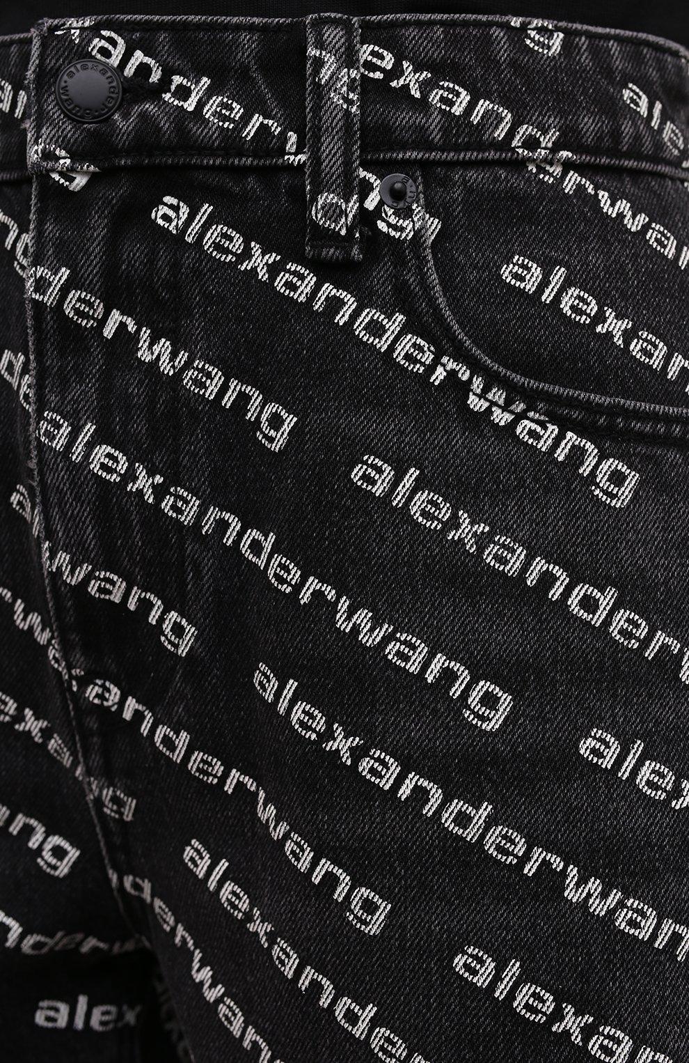 Женские джинсовые шорты DENIM X ALEXANDER WANG темно-серого цвета, арт. 4DC1214896   Фото 5 (Женское Кросс-КТ: Шорты-одежда; Кросс-КТ: Деним; Длина Ж (юбки, платья, шорты): Мини; Материал внешний: Хлопок; Стили: Спорт-шик)