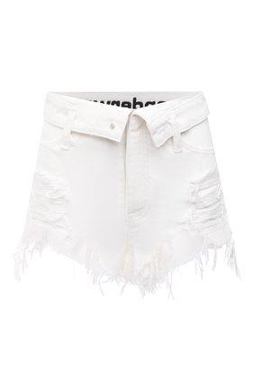 Женские джинсовые шорты DENIM X ALEXANDER WANG белого цвета, арт. 4DC1204685   Фото 1