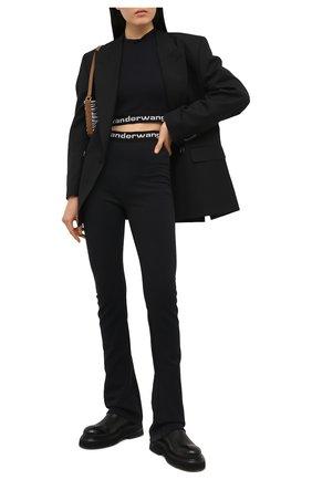 Женские брюки ALEXANDERWANG.T черного цвета, арт. 4CC1214075 | Фото 2