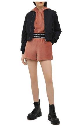 Женские шорты ALEXANDERWANG.T коричневого цвета, арт. 4CC1204025 | Фото 2