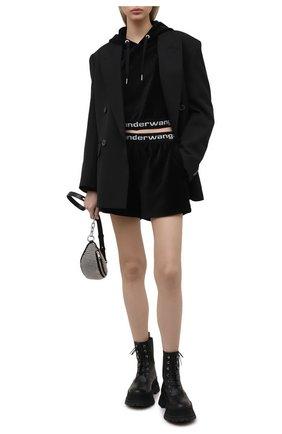 Женские шорты ALEXANDERWANG.T черного цвета, арт. 4CC1204025 | Фото 2