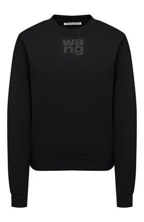 Женский хлопковый свитшот ALEXANDERWANG.T черного цвета, арт. 4CC1201157 | Фото 1