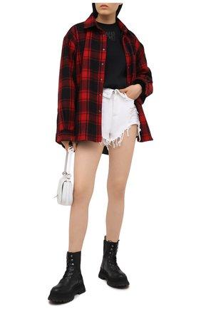 Женский хлопковый свитшот ALEXANDERWANG.T черного цвета, арт. 4CC1201157 | Фото 2
