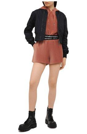 Женский худи ALEXANDERWANG.T коричневого цвета, арт. 4CC1201106 | Фото 2