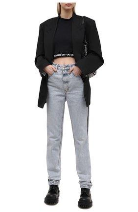 Женские джинсы DENIM X ALEXANDER WANG голубого цвета, арт. 1WC1214323   Фото 2